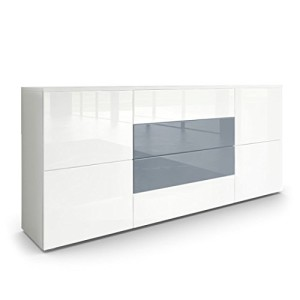 Sideboard Kommode Rova in Weiß matt / Weiß Hochglanz / Grau Hochglanz ♥ Sideboards ♥ MDF
