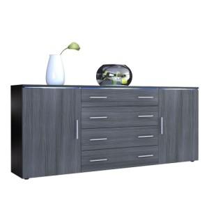 Sideboard Kommode Faro V2 in Schwarz / Avola-Anthrazit ♥ Design Sideboard ♥ MDF