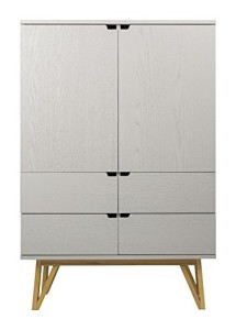 Tenzo CROSS - Designer Sideboard, grau gebeizt ♥ Sideboard Design ♥ Eiche Furnier