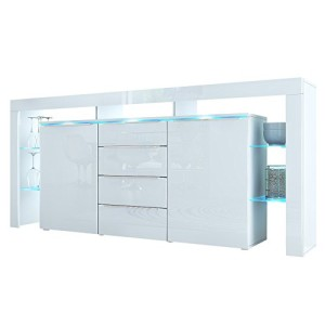 Sideboard Kommode Lima Nova ♥ Weißes Sideboard und Vitrine