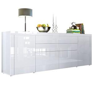 Sideboard Kommode La Paz V2 in Weiß Hochglanz / Weiß Hochglanz / Weiß Hochglanz ♥ Design Sideboard