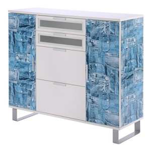 Highboard Sideboard Ruven V,  Jeans Design Jeanstaschendesign ♥ Sideboard Design ♥ Holzwerkstoffe